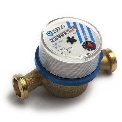 Счетчик воды СВК-15 Х с ОК (гайка и штуцер латунь)